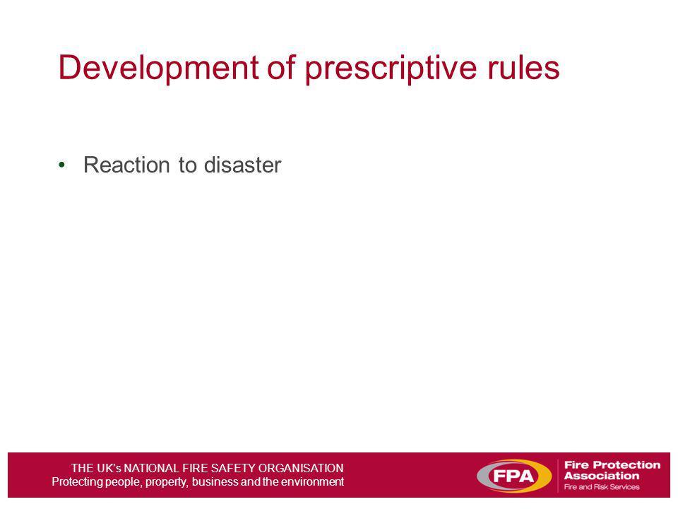 Development of prescriptive rules