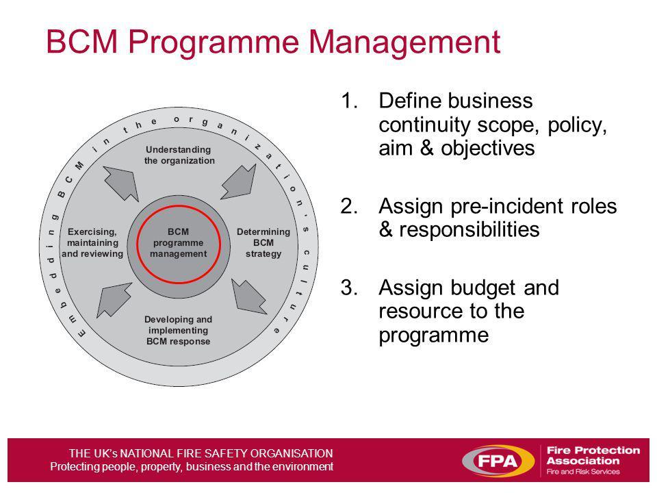 BCM Programme Management
