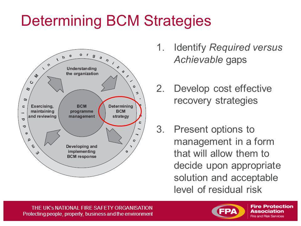 Determining BCM Strategies