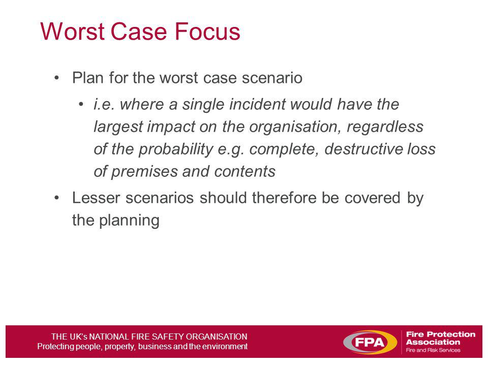 Worst Case Focus Plan for the worst case scenario