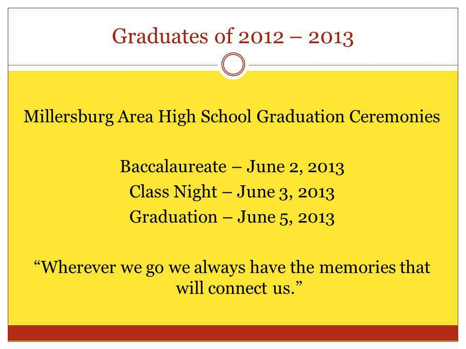 Graduates of 2012 – 2013