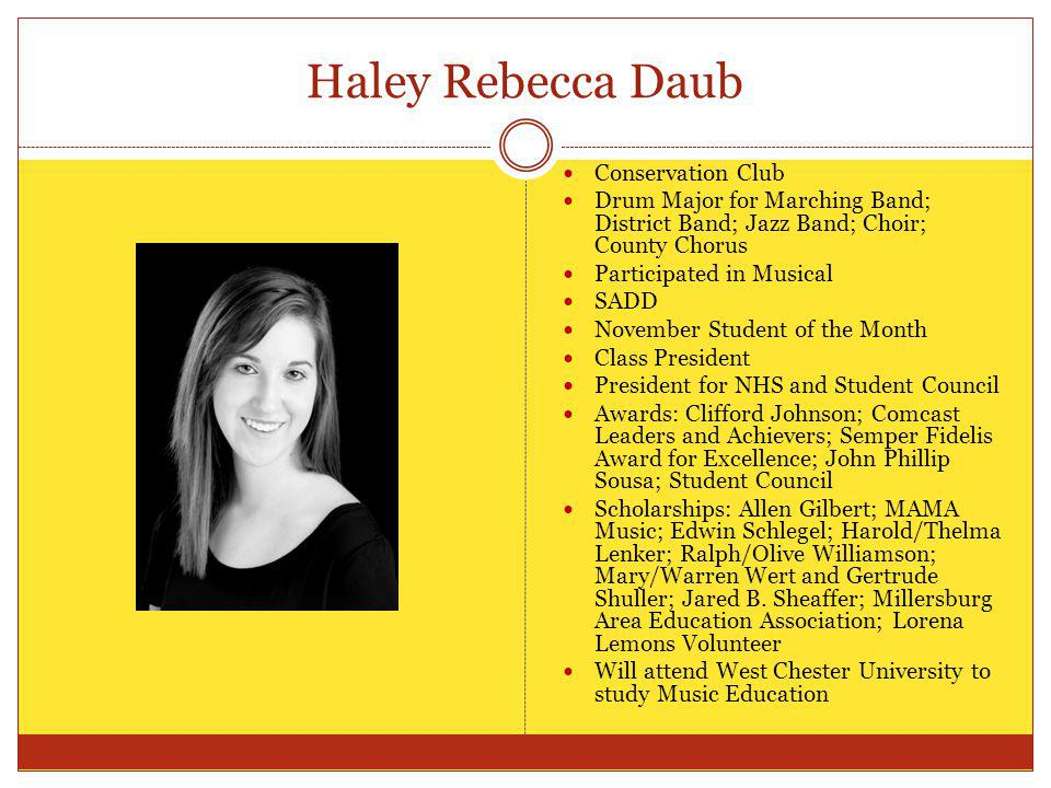 Haley Rebecca Daub Conservation Club