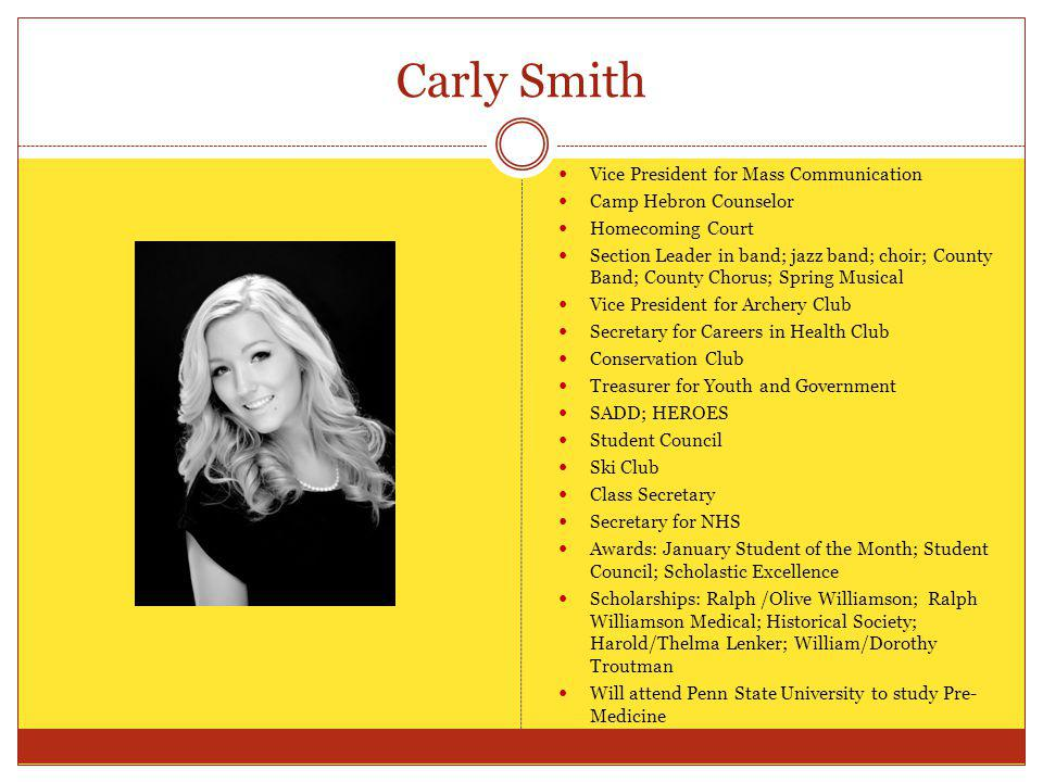 Carly Smith Vice President for Mass Communication