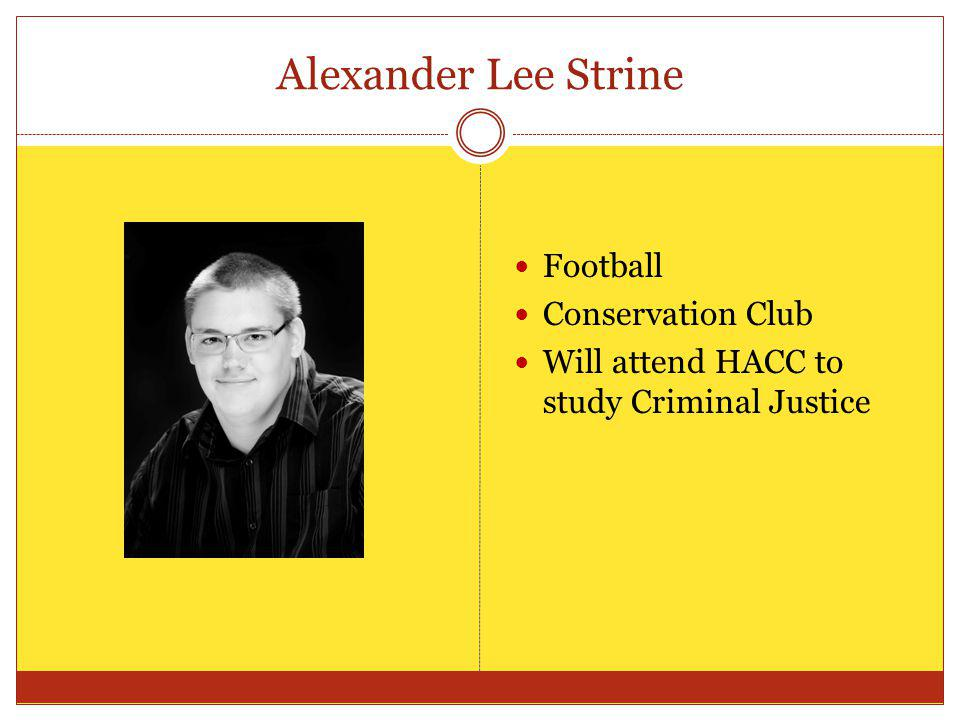 Alexander Lee Strine Football Conservation Club