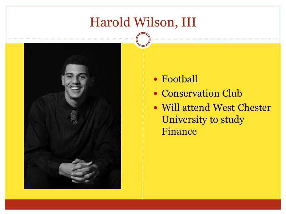 Harold Wilson, III Football Conservation Club