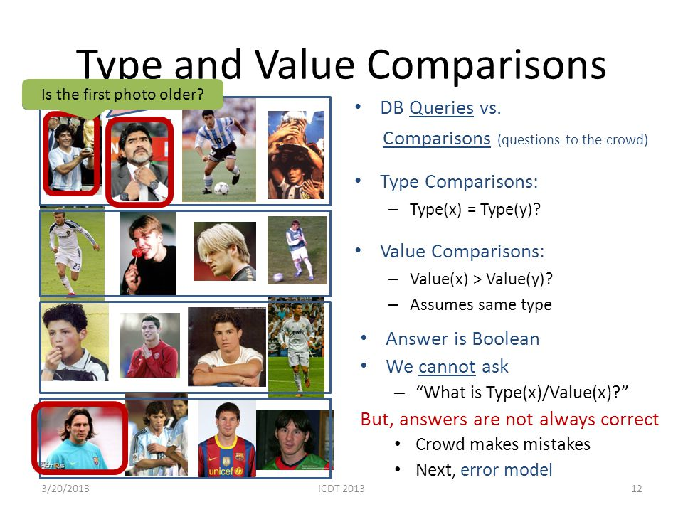 Type and Value Comparisons