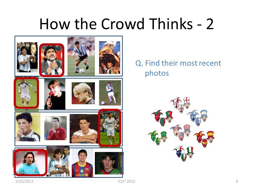 How the Crowd Thinks - 2 Q. Find their most recent photos