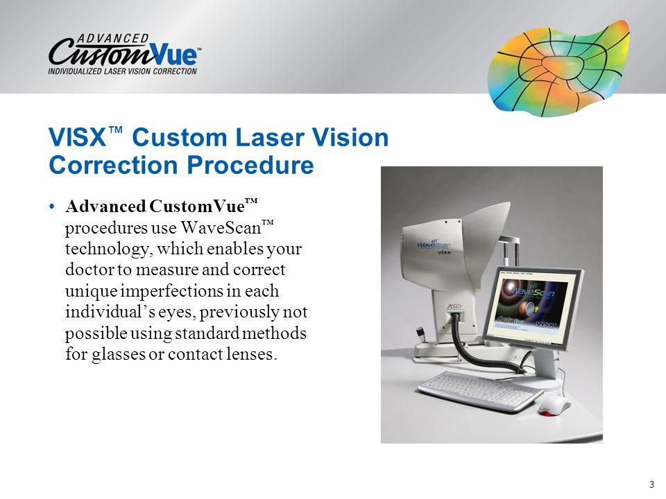 VISX™ Custom Laser Vision Correction Procedure
