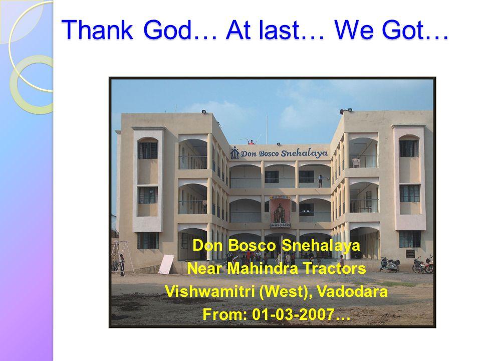 Thank God… At last… We Got…