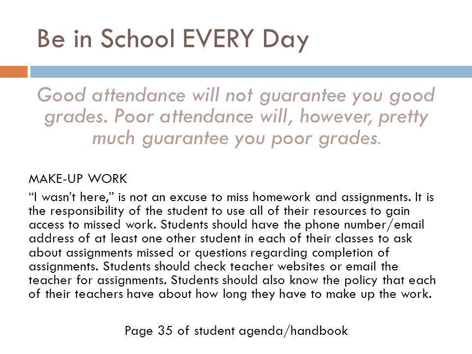 Page 35 of student agenda/handbook