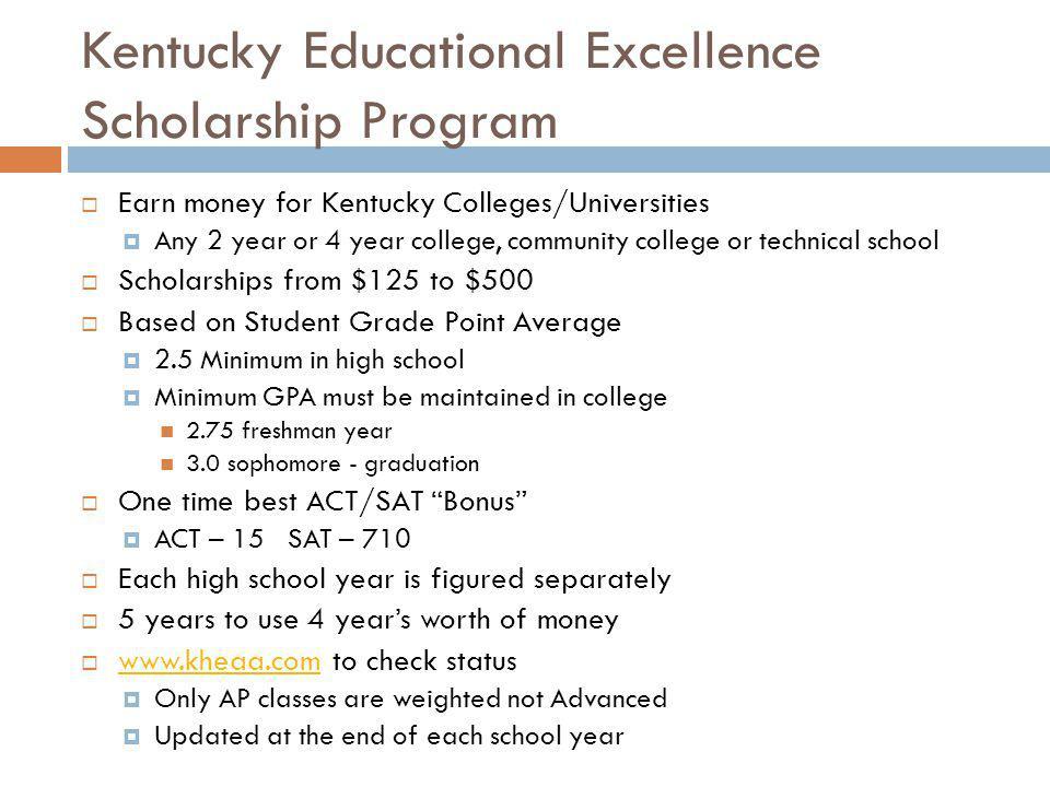 Kentucky Educational Excellence Scholarship Program