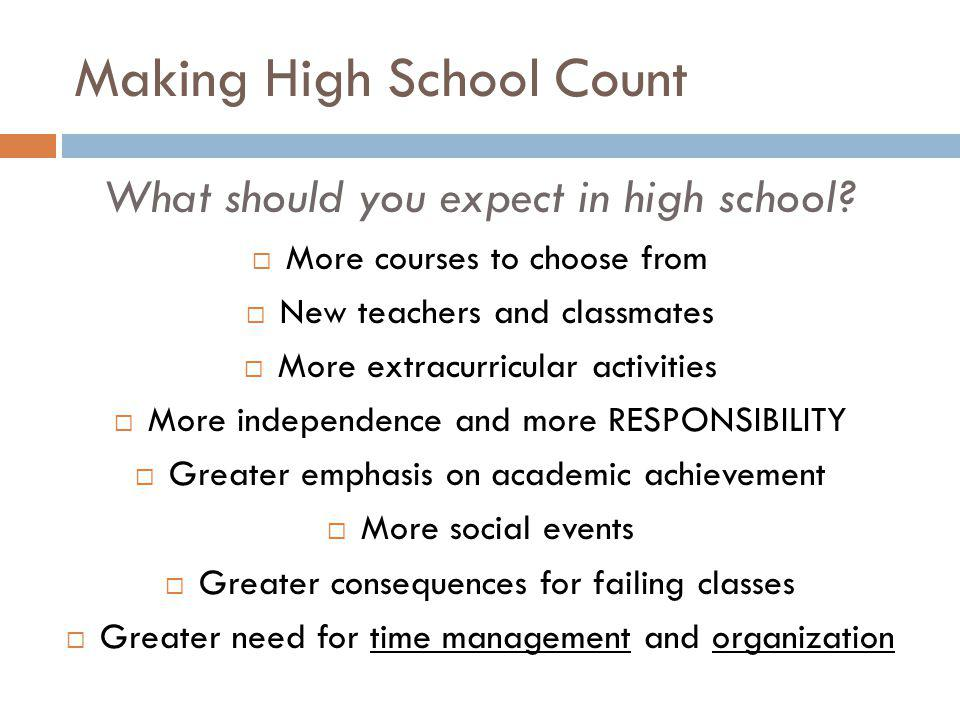 Making High School Count