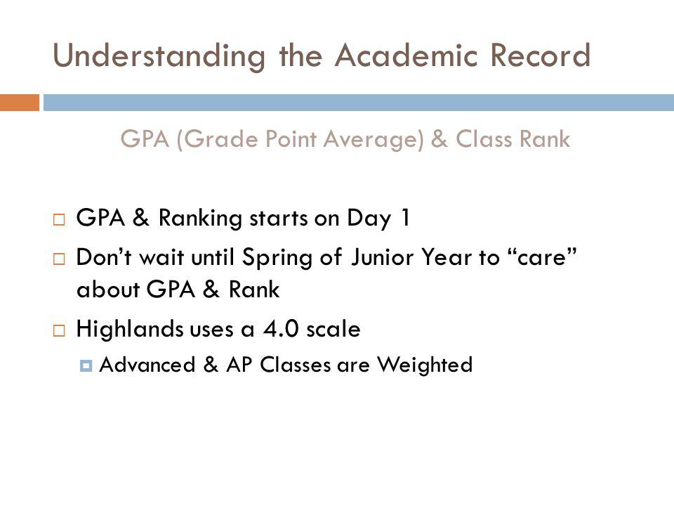 Understanding the Academic Record