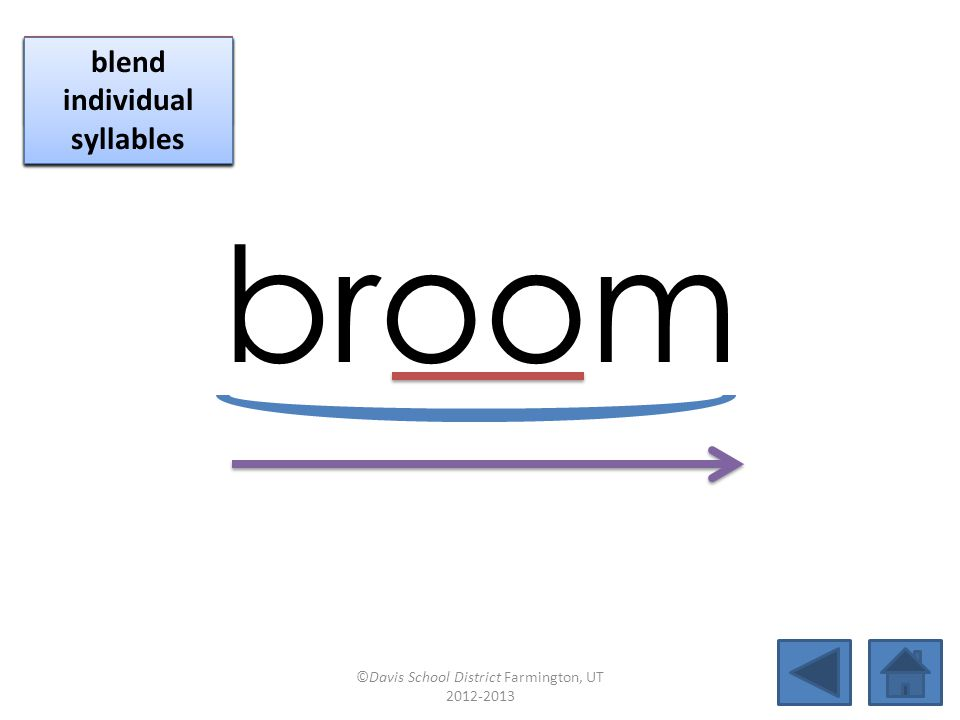 broom click per vowel identify vowel patterns
