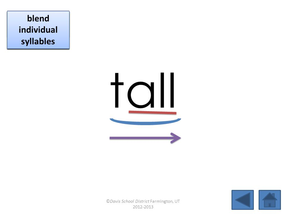 tall click per vowel identify vowel patterns
