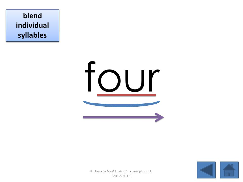 four click per vowel identify vowel patterns