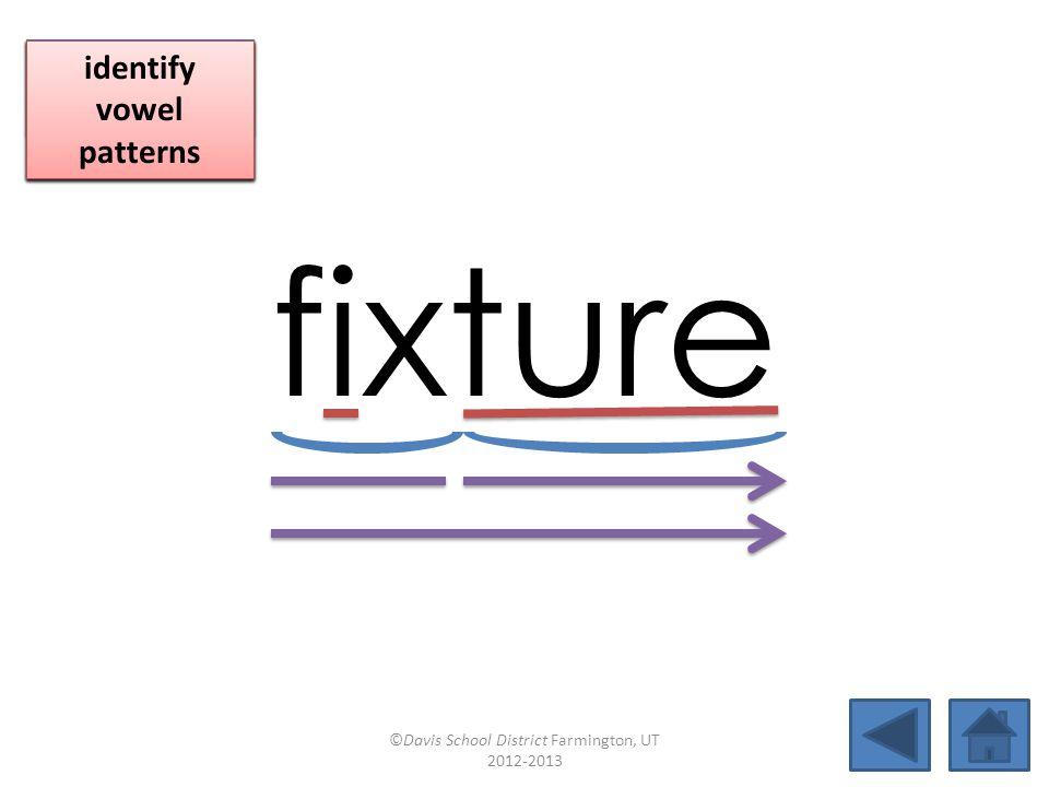 fixture click per vowel blend individual syllables
