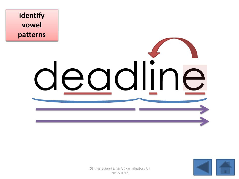 deadline click per vowel blend individual syllables