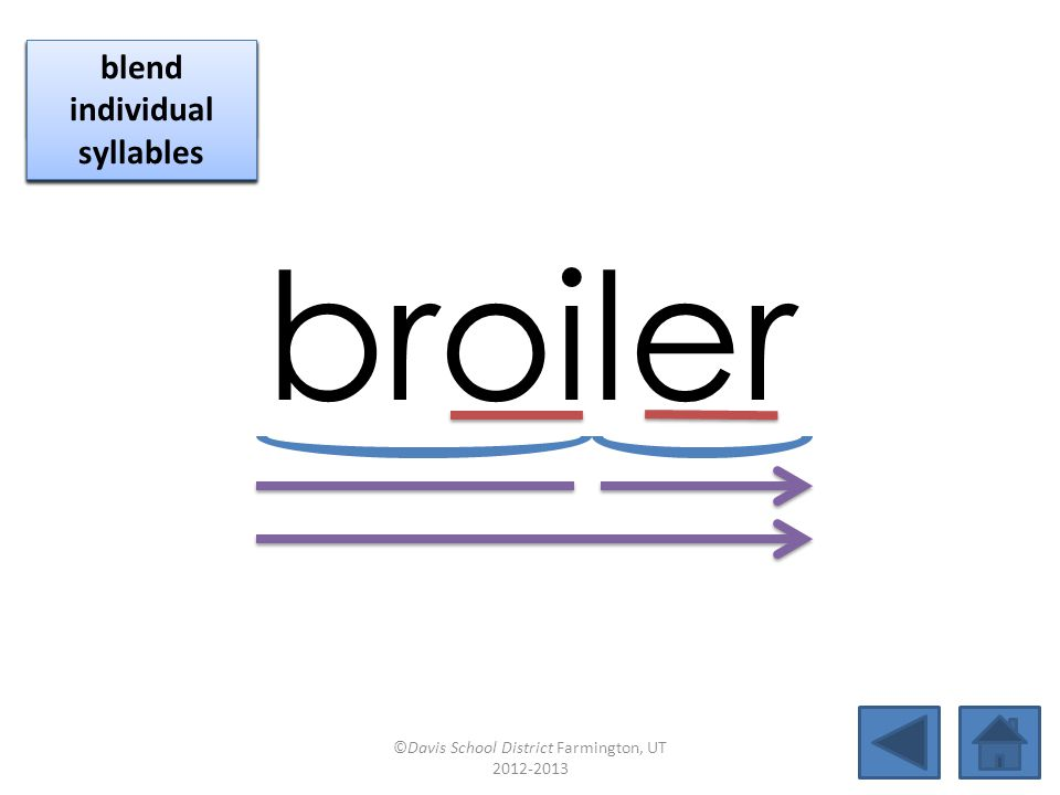 broiler click per vowel blend individual syllables