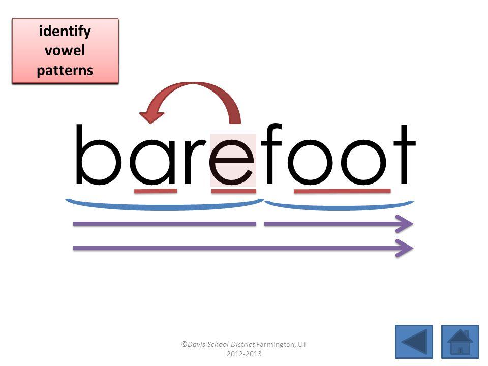 barefoot click per vowel identify vowel patterns