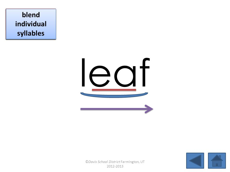leaf click per vowel identify vowel patterns identify vowel patterns