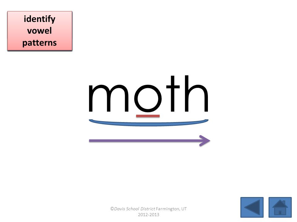 moth click per vowel identify vowel patterns