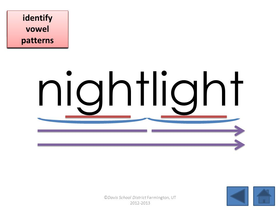 nightlight click per vowel identify vowel patterns
