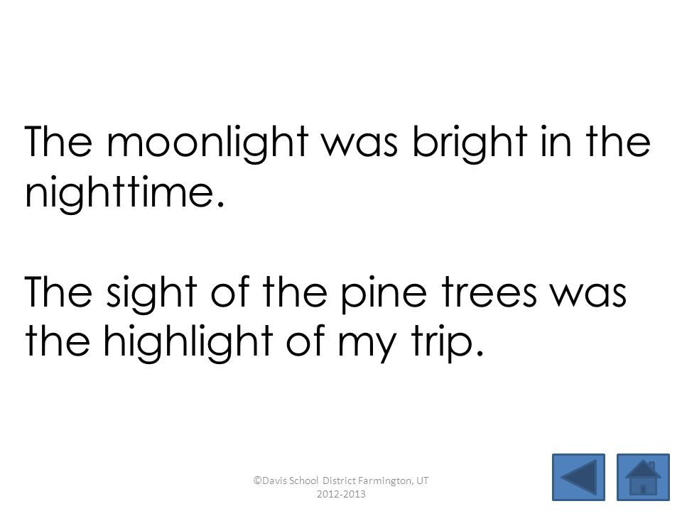 The moonlight was bright in the nighttime.
