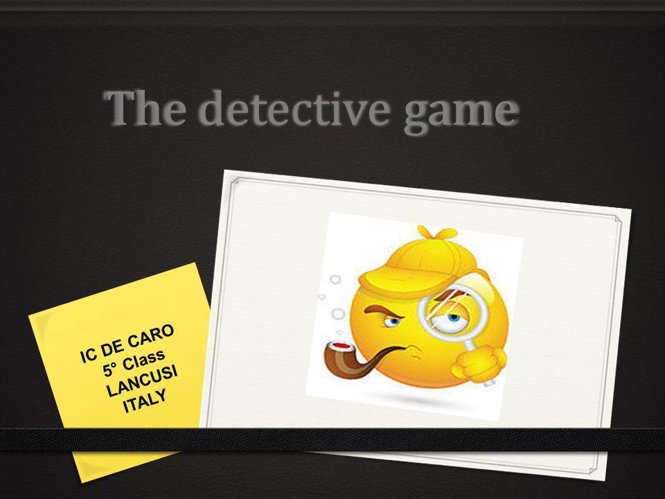 The detective game IC DE CARO 5° Class LANCUSI ITALY