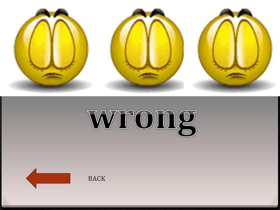 wrong BACK