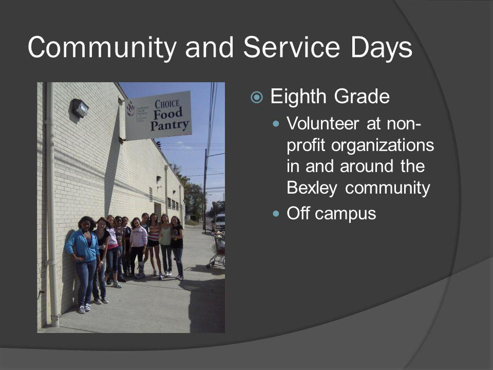 Community and Service Days
