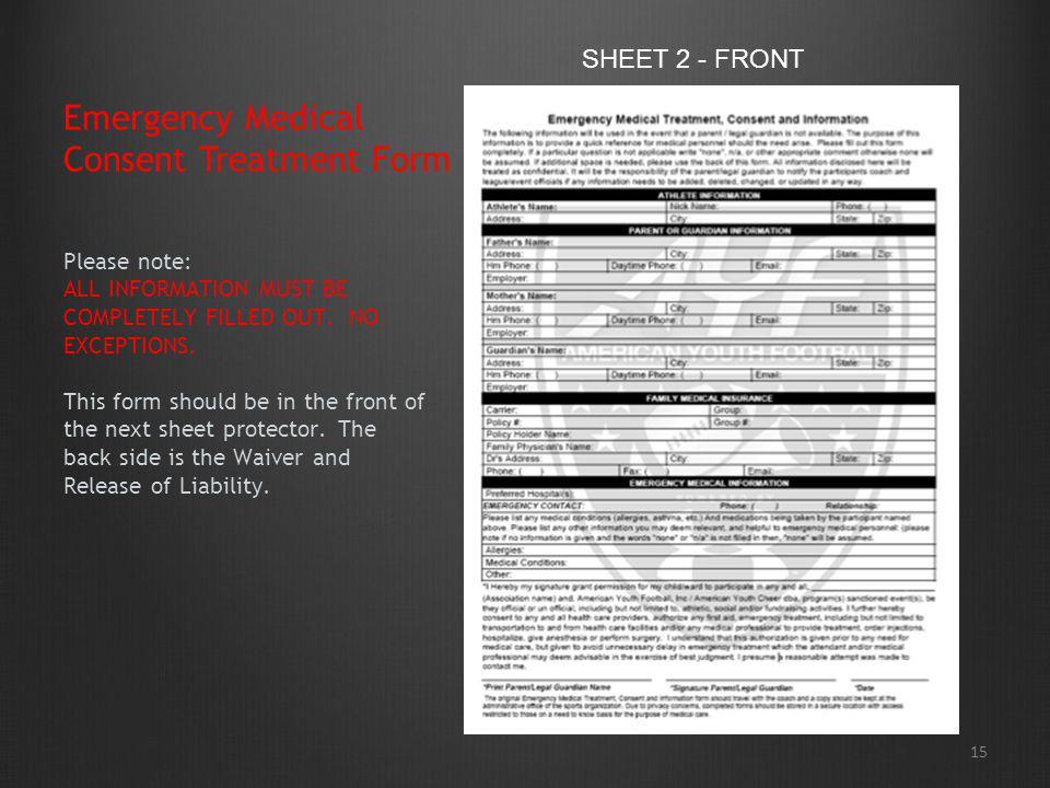 Emergency Medical Consent Treatment Form