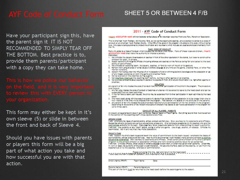 AYF Code of Conduct Form