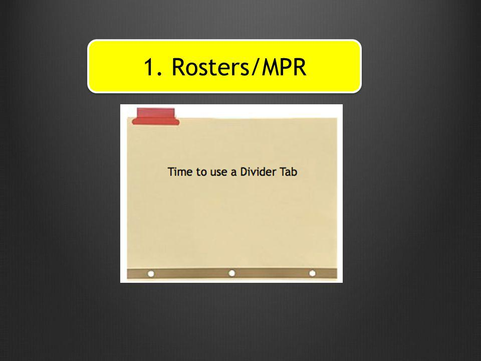 1. Rosters/MPR