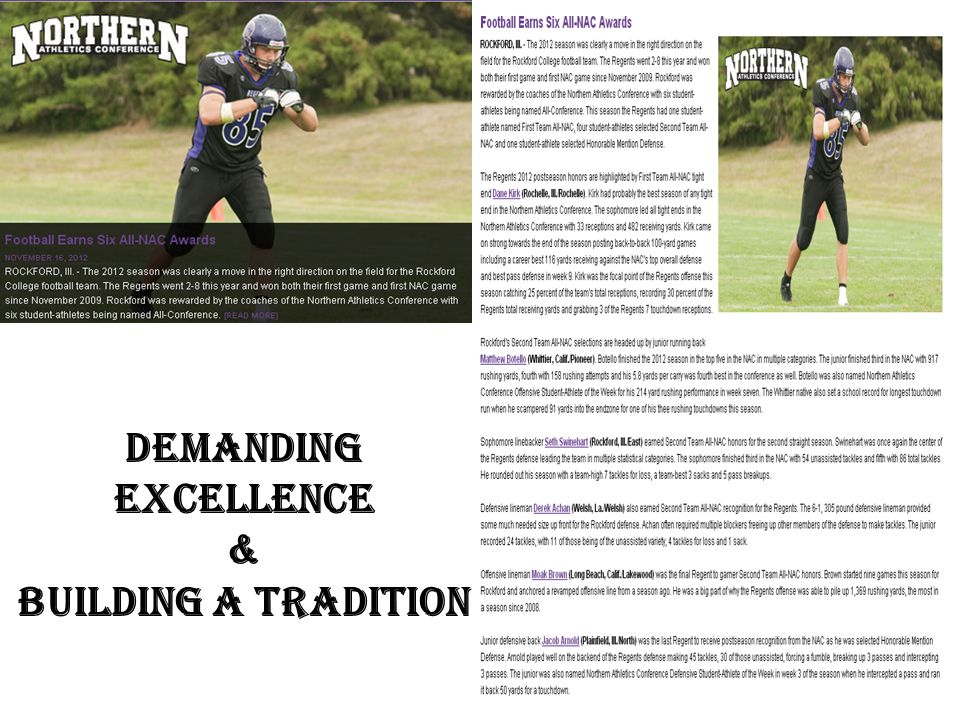 Demanding Excellence & Building A Tradition