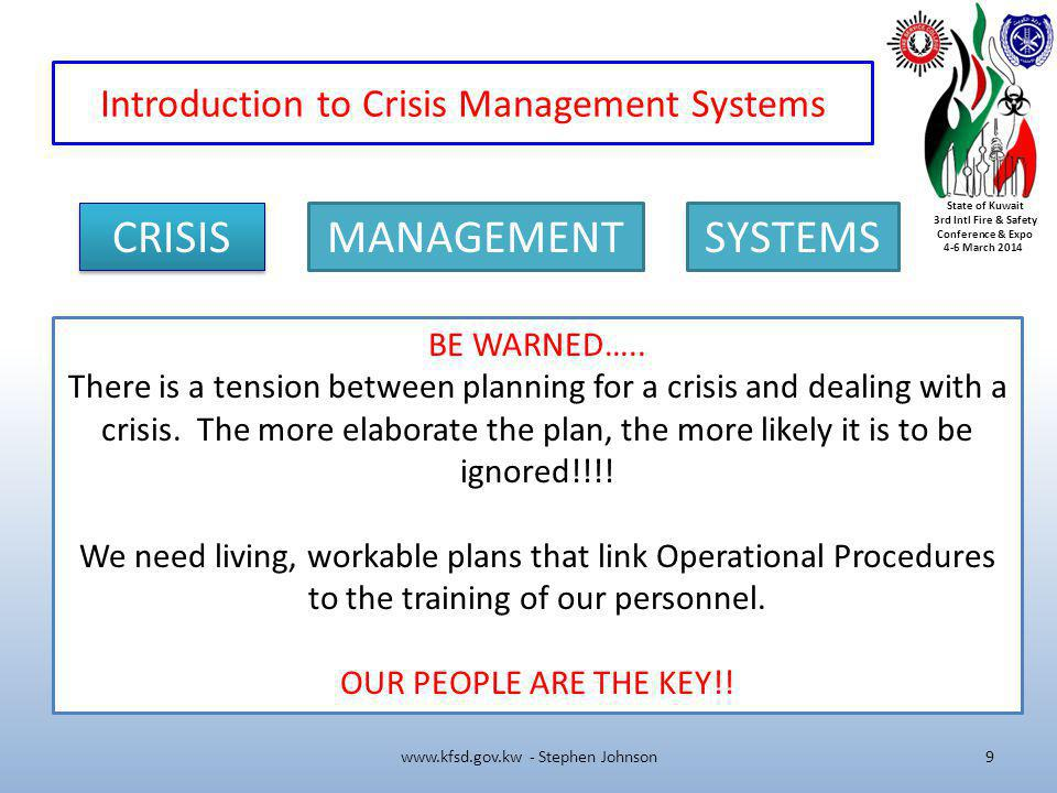 Introduction to Crisis Management Systems