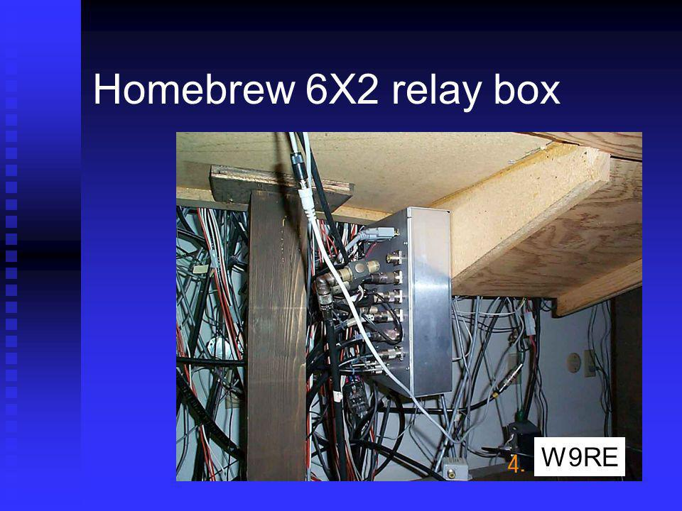Homebrew 6X2 relay box Under the operating table W9RE