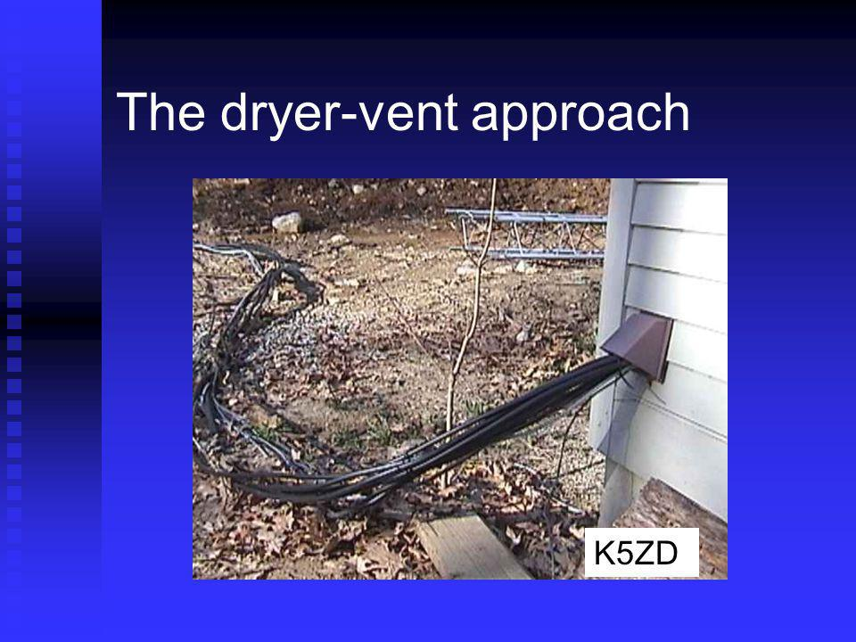 The dryer-vent approach