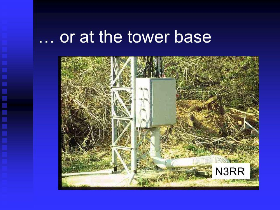 … or at the tower base N3RR