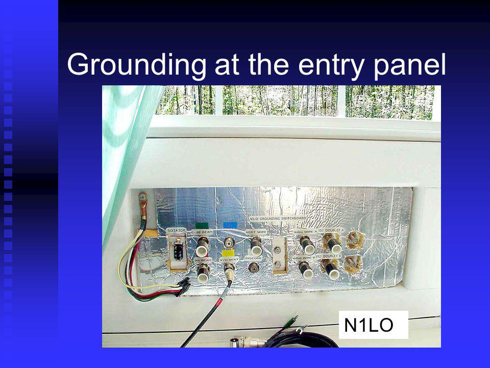 Grounding at the entry panel