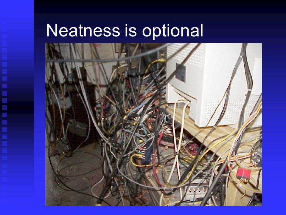 Neatness is optional