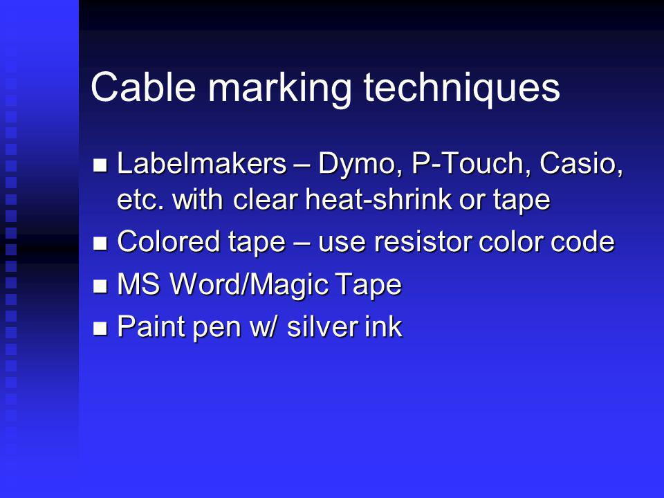 Cable marking techniques