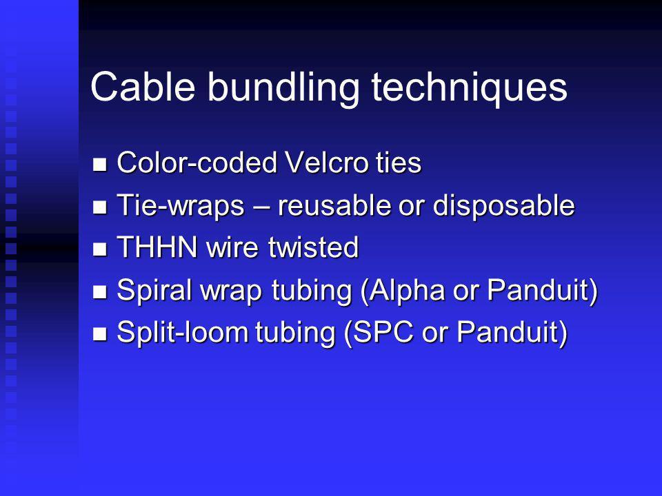 Cable bundling techniques