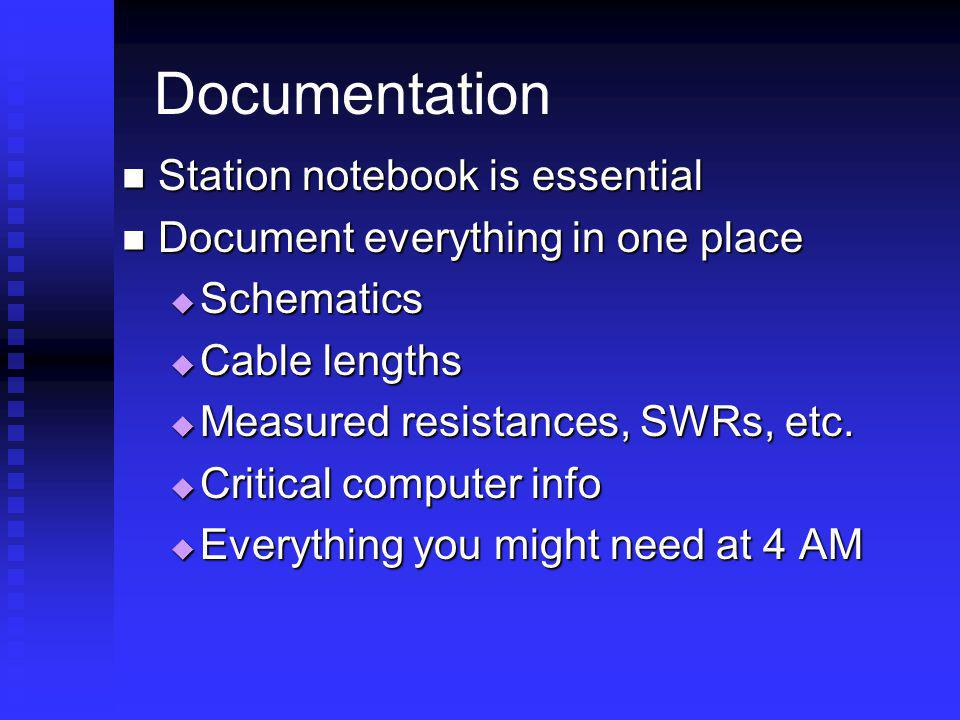 Documentation Station notebook is essential