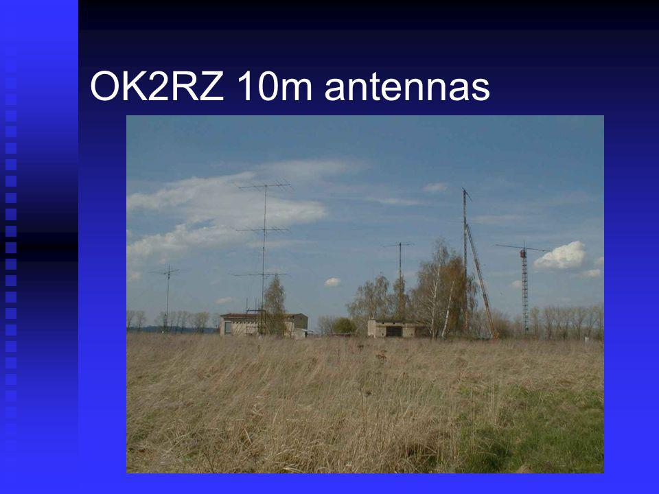 OK2RZ 10m antennas Former military communications facility