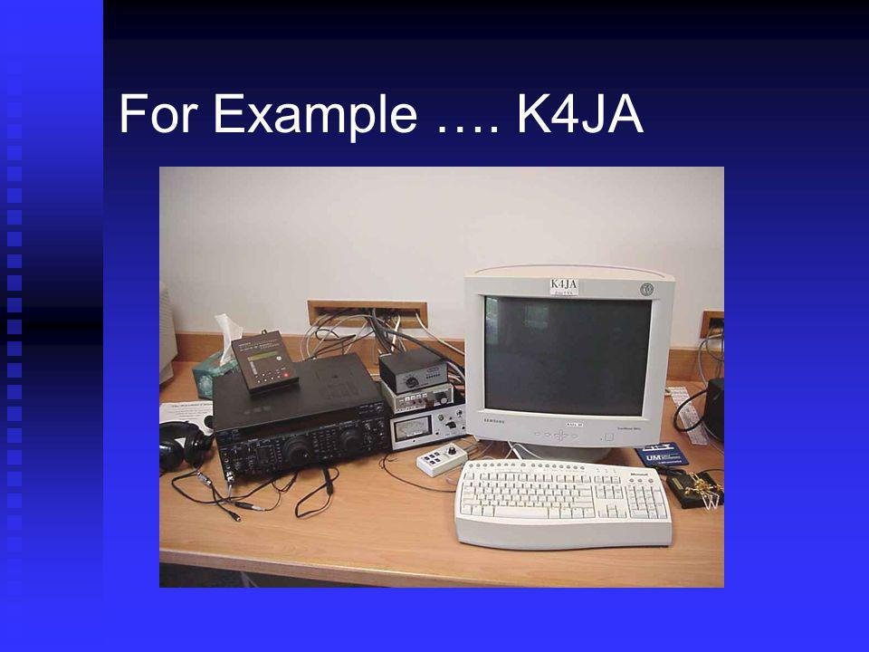 For Example …. K4JA Utter simplicity – belies what is under the covers.