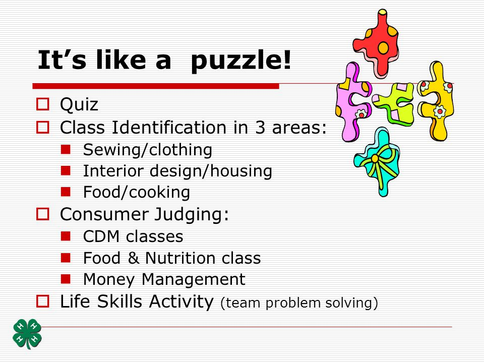 It's like a puzzle! Quiz Class Identification in 3 areas: