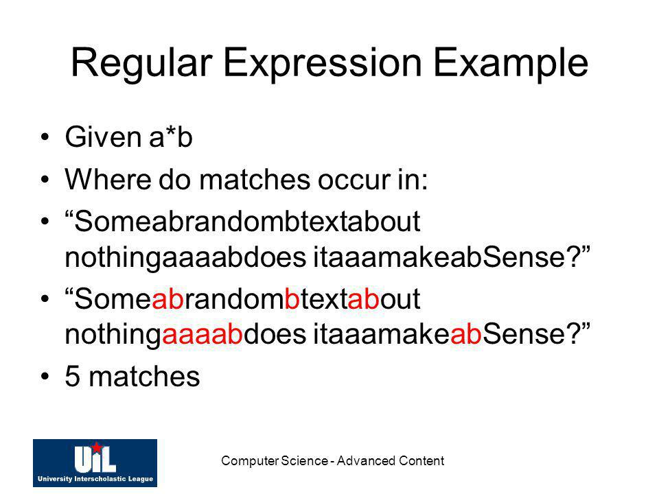 Regular Expression Example