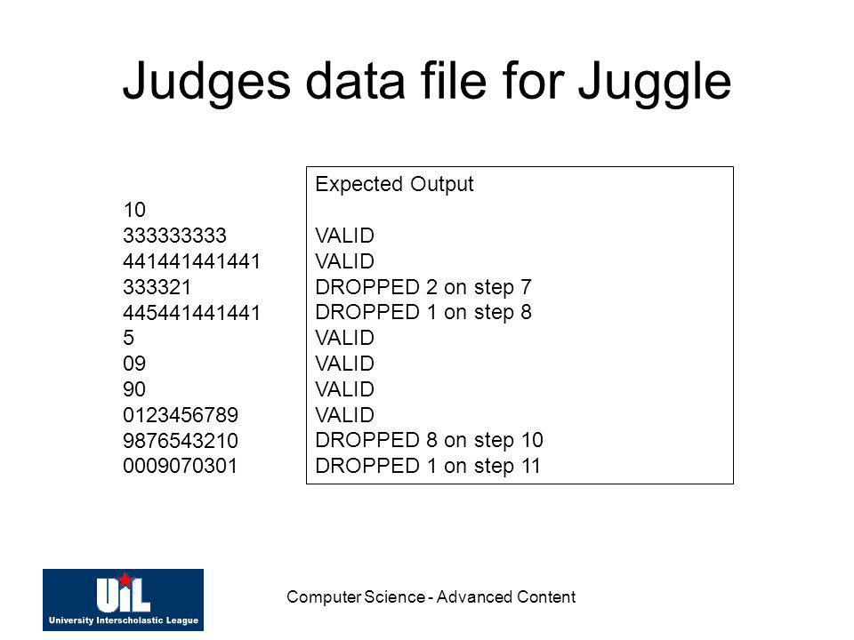 Judges data file for Juggle