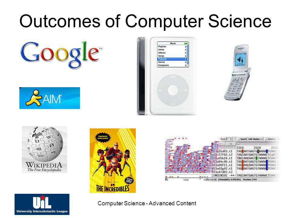 Outcomes of Computer Science